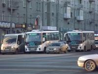 Омск. ГАЗель Next в093он, ПАЗ-320435-04 Vector Next у939вх, ПАЗ-320435-04 Vector Next у429вт