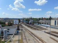 Крым. Вид с переходного моста на тракционные пути депо Симферополь