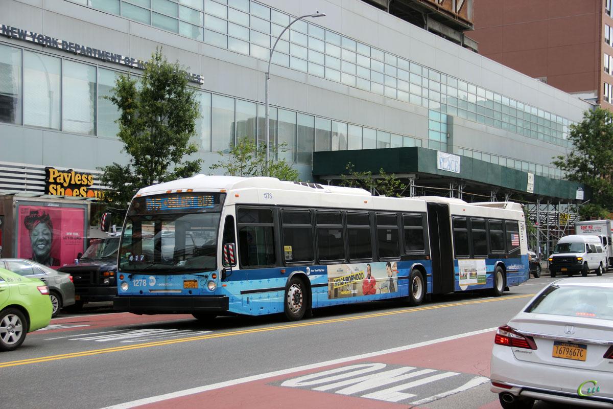 Нью-Йорк. Novabus LFS Artic AU1601