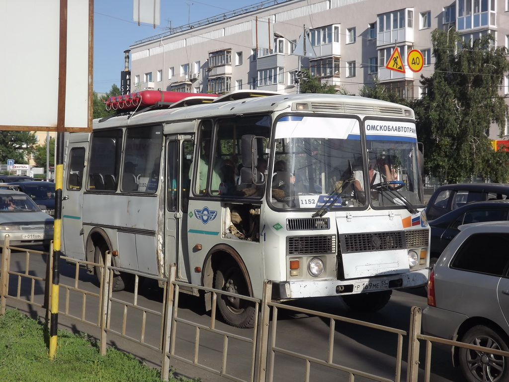 Омск. ПАЗ-32053 р169ме