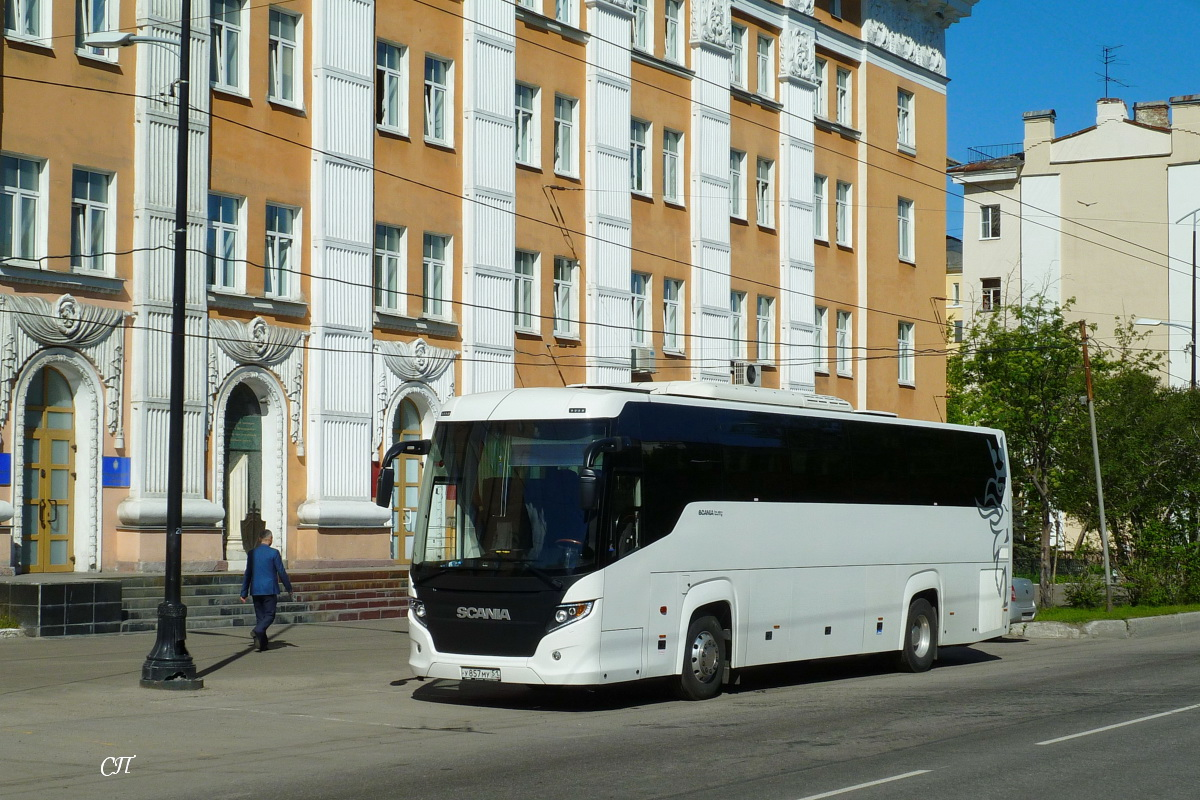 Мурманск. Scania Touring HD (Higer A80T) у857му