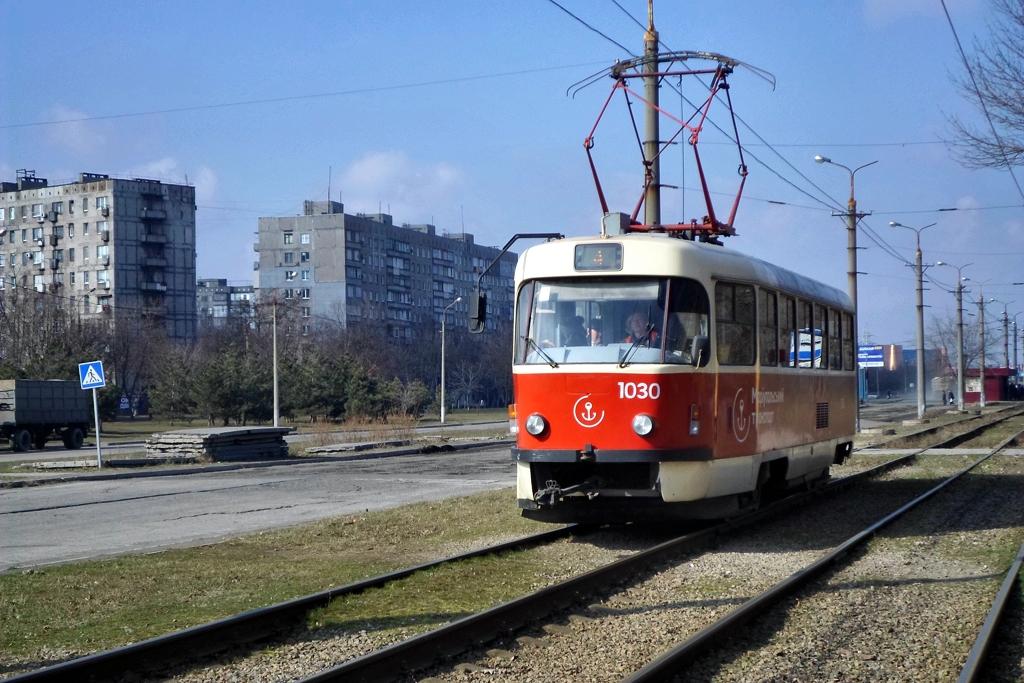 Мариуполь. Tatra T3SUCS №1030