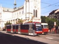 Братислава. Tatra K2S №7113, Tatra T3SU №7717