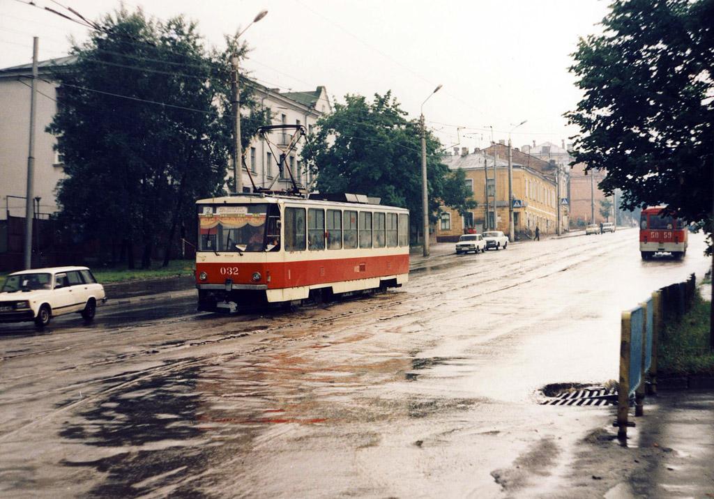 Курск. Tatra T6B5 (Tatra T3M) №032, ЛиАЗ-677М 5059КУО
