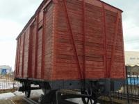 Екатеринбург. Двухосный крытый вагон НТВ