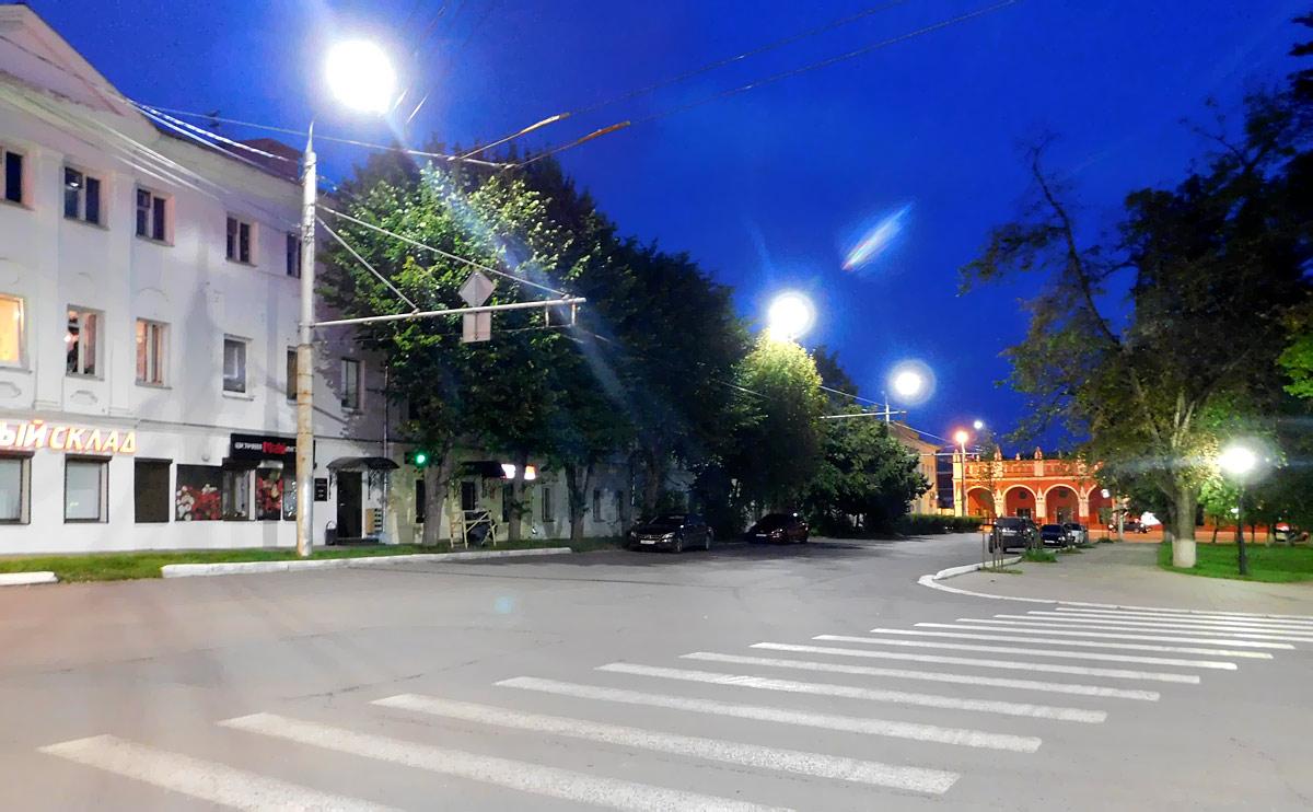 Калуга. Временное кольцо для оборота маршрутов 1 и 2, действовавшее в период реконструкции Каменного моста в 2009-2010 годах