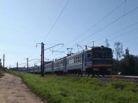 Минск. Электропоезд переменного тока ЭР9Т (674), маршрут Минск-пасс