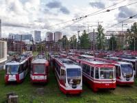 Санкт-Петербург. 71-134А (ЛМ-99АВН) №1329, 71-134А (ЛМ-99АВН) №1341, 71-147А (ЛВС-97А) №1201, 71-153 (ЛМ-2008) №1429, 71-147К (ЛВС-97К) №1029