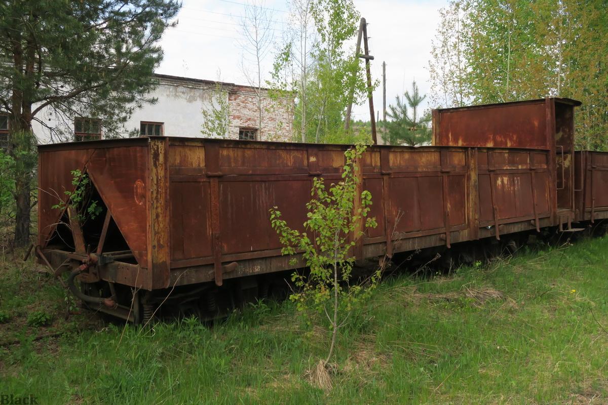 Кирово-Чепецк. Торфовозный полувагон с тормозной площадкой