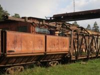 Кирово-Чепецк. Рельсоукладочный кран с торфовозным вагоном