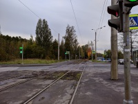 Поворот недалеко от остановки Лесопарковая улица