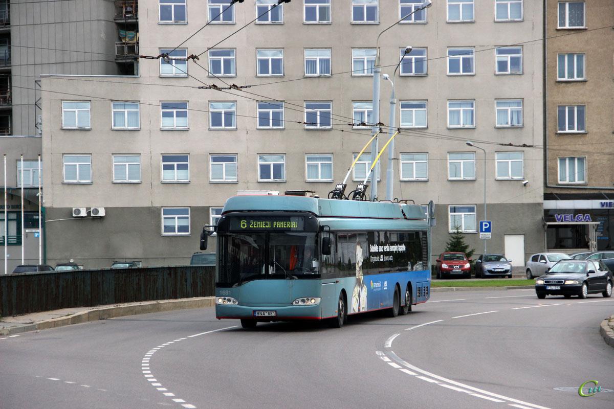 Вильнюс. Solaris Trollino 15 №1681