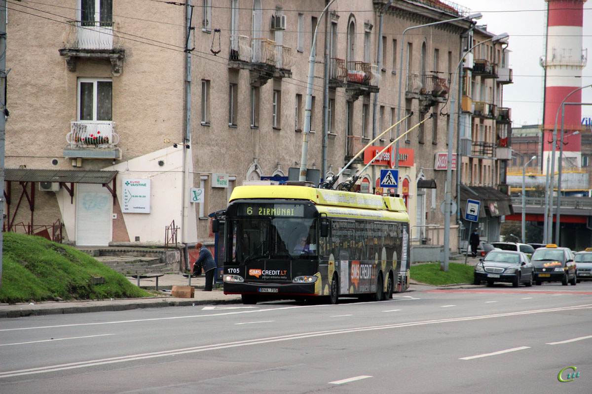 Вильнюс. Solaris Trollino 15 №1705