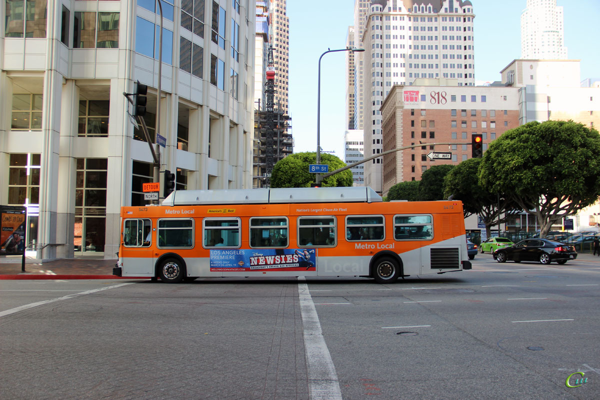 Лос-Анджелес. New Flyer C40LF 1367727