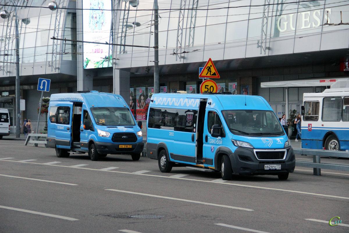 Москва. Sollers Bus (Ford Transit FBD) уе318, Автодом-22080 (Peugeot Boxer) к624ра