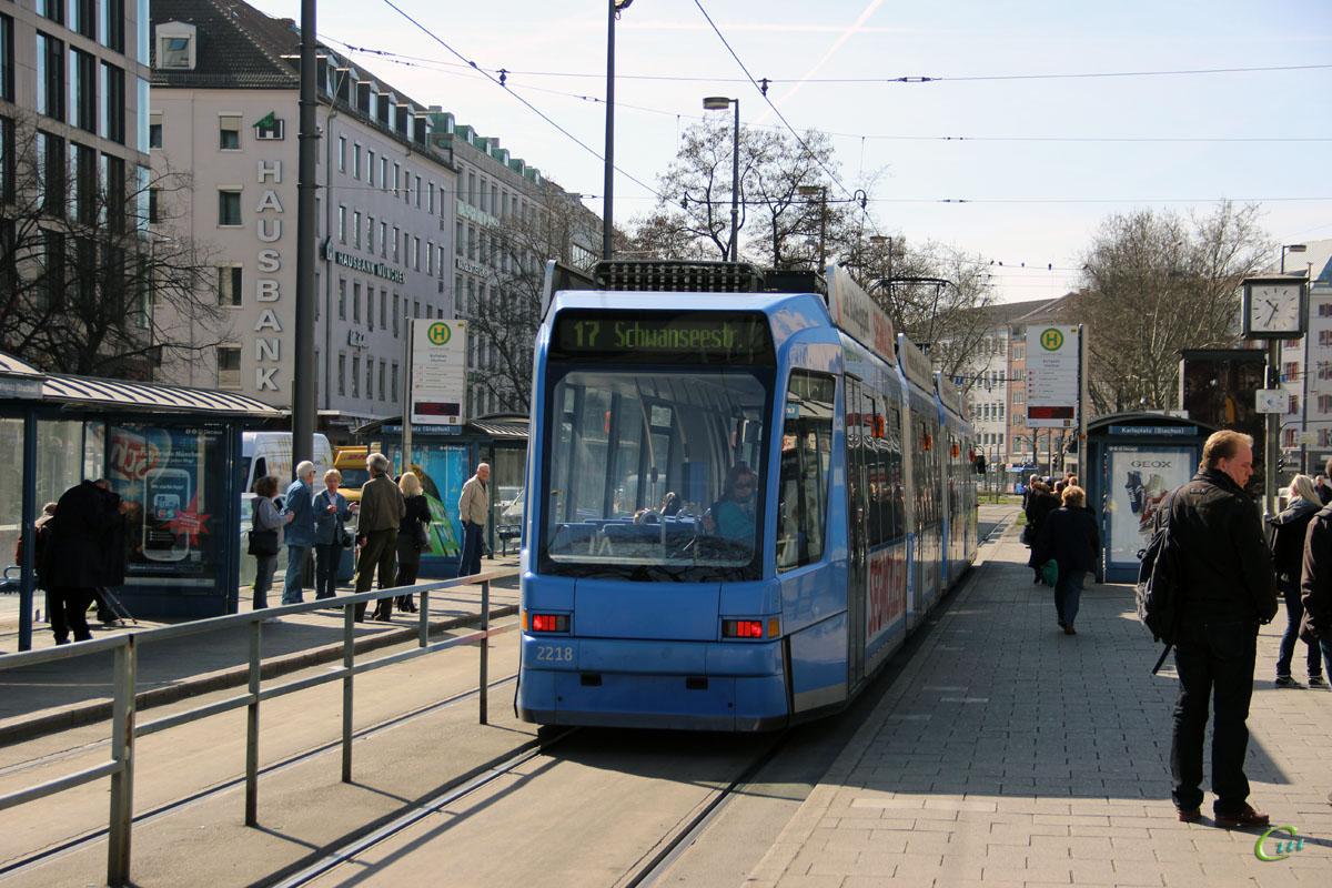 Мюнхен. Adtranz R3.3 №2218