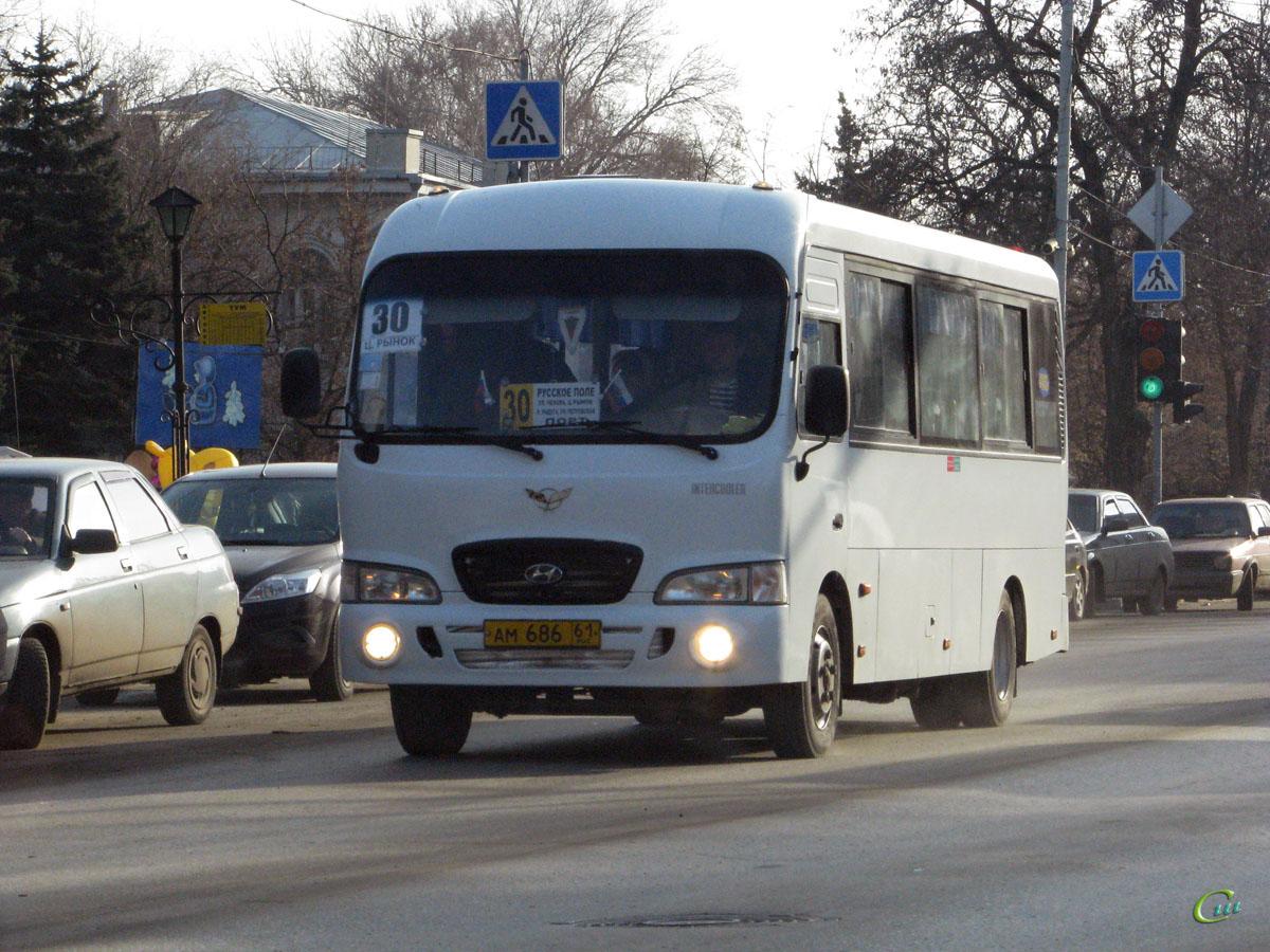Таганрог. Hyundai County LWB ам686