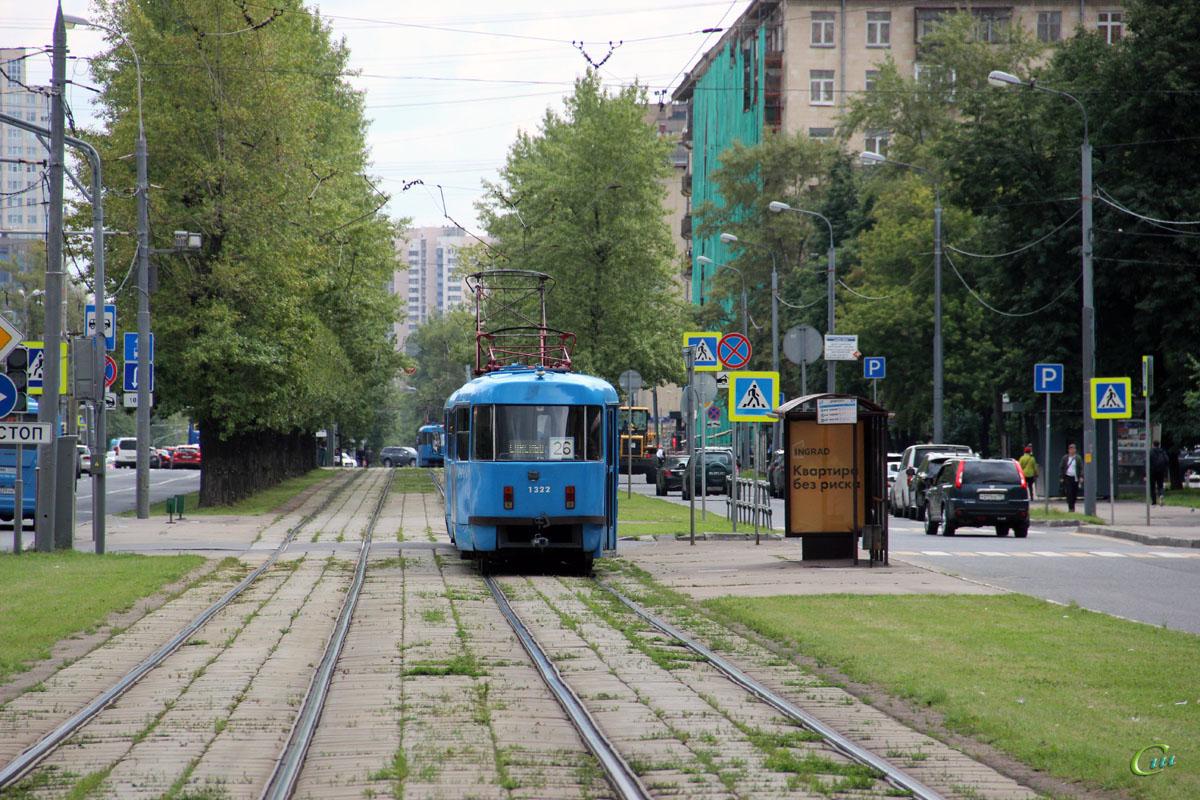 Москва. Tatra T3 (МТТЧ) №1322
