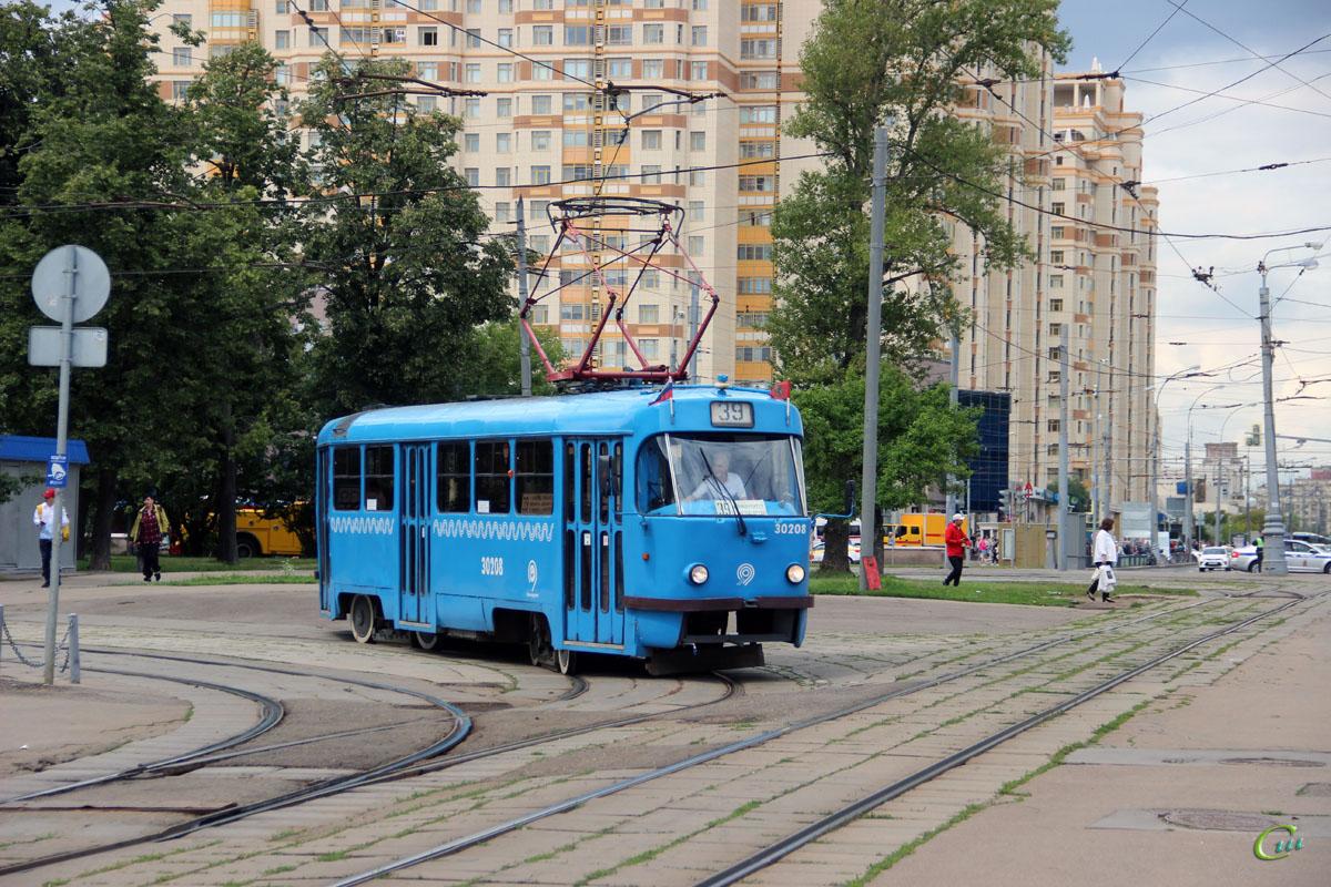 Москва. Tatra T3 (МТТЧ) №30208