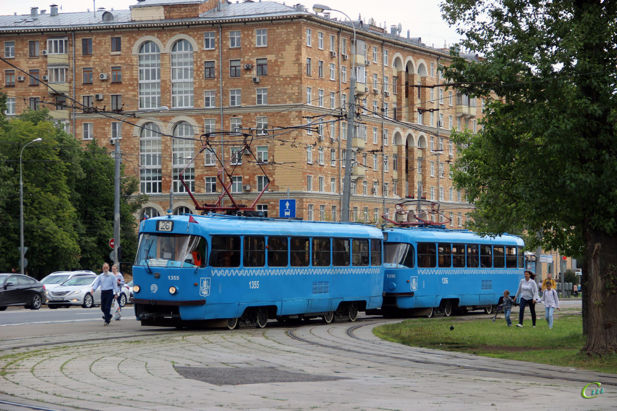 Москва. Tatra T3 (МТТЧ) №1355, Tatra T3 (МТТЧ) №1356