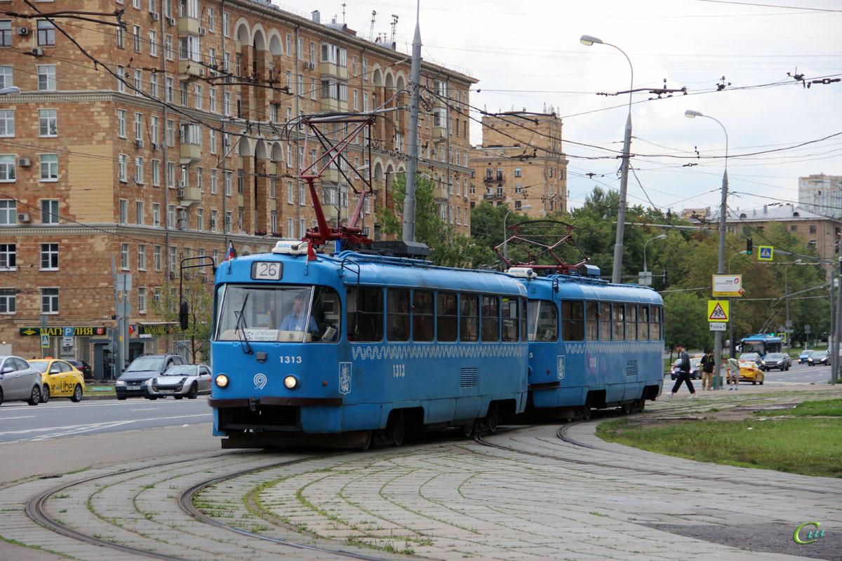 Москва. Tatra T3 (МТТЕ) №1315, Tatra T3 (МТТЕ) №1313