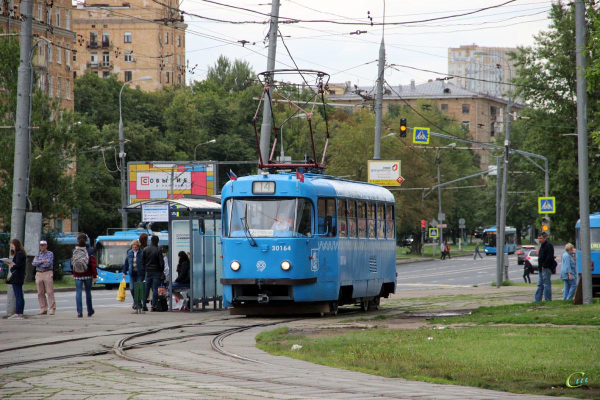 Москва. Tatra T3 (МТТЧ) №30164