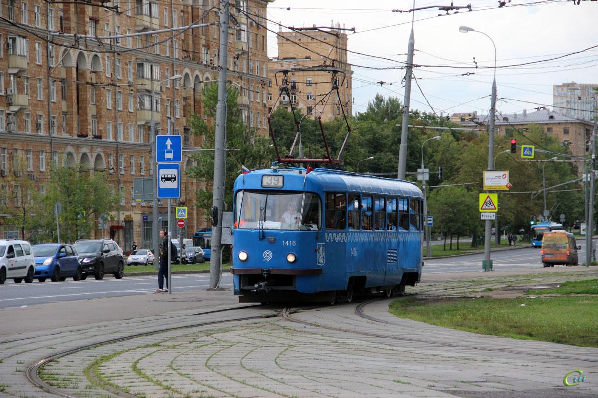 Москва. Tatra T3 (МТТЧ) №1416