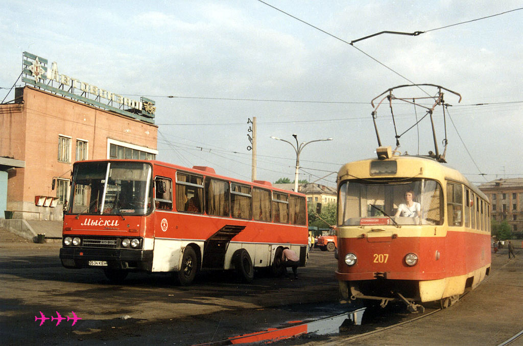 Новокузнецк. Tatra T3SU №207, Ikarus 250.59 3534КЕН