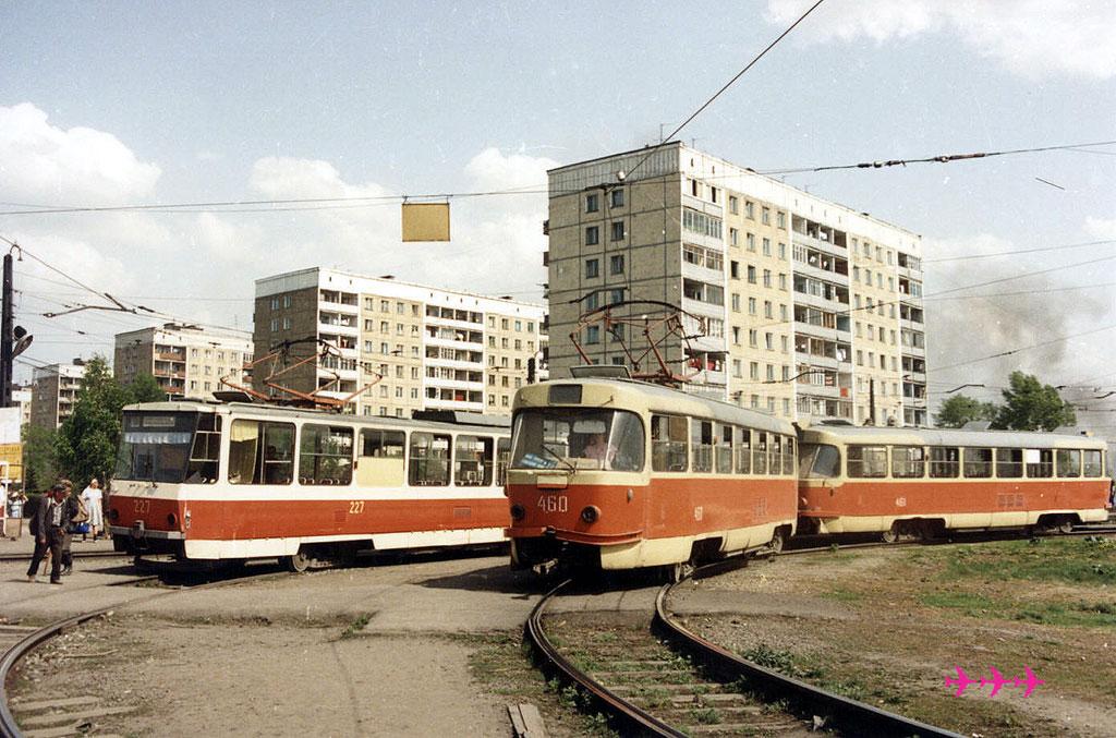 Новокузнецк. Tatra T3SU №461, Tatra T3SU №460, Tatra T6B5 (Tatra T3M) №227