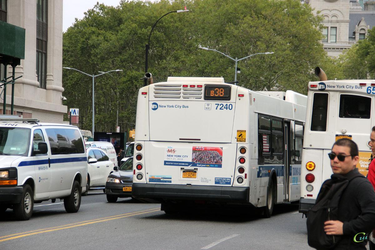 Нью-Йорк. New Flyer XD40 AW2581