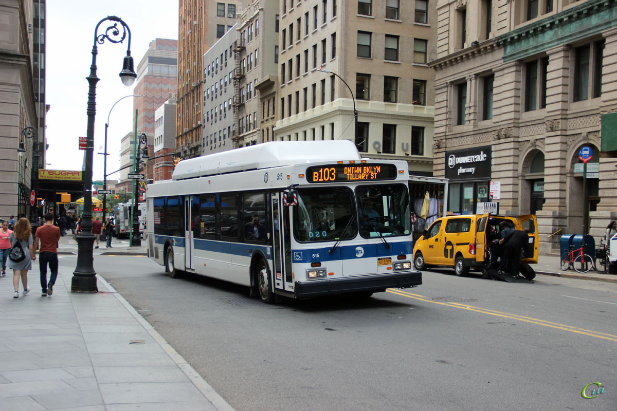 Нью-Йорк. New Flyer C40LF AU2299