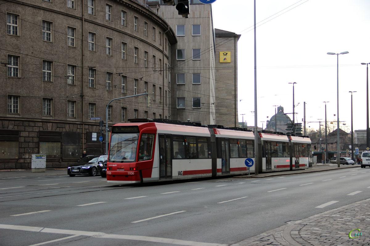 Нюрнберг. ADtranz GT8N2 №1106