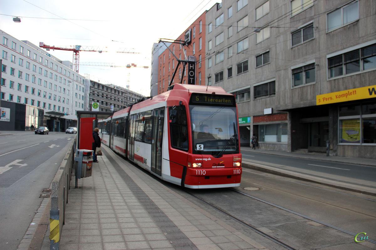 Нюрнберг. ADtranz GT8N2 №1110
