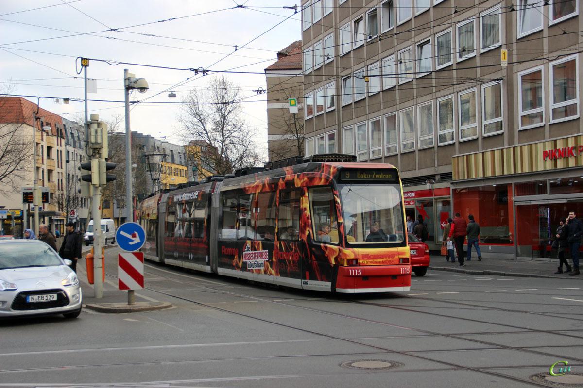 Нюрнберг. ADtranz GT8N2 №1115
