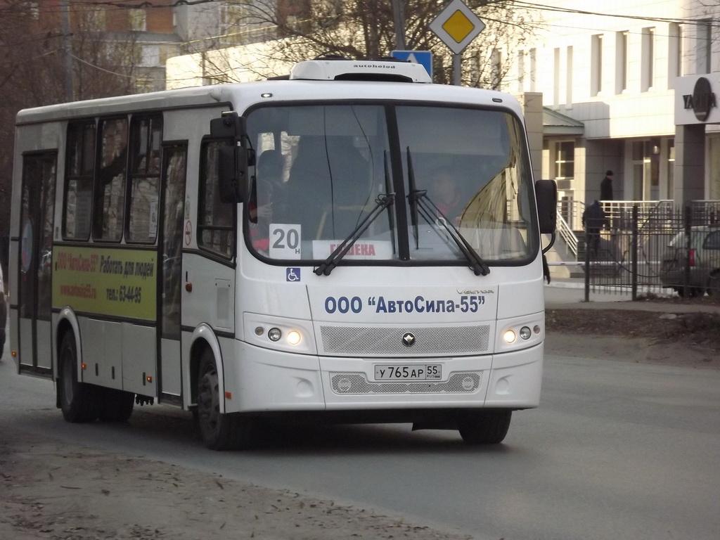 Омск. ПАЗ-320414-04 Вектор у765ар