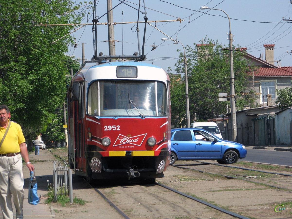 Одесса. Tatra T3R.P №2952