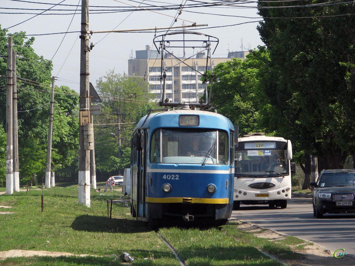 Одесса. Tatra T3R.P №4022, YouYi ZGT6710D BH3351AA