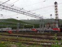 Иркутск. ЭР9ПК-427, 3ЭС5К Ермак-031, 3ЭС5К Ермак-040