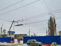 Саратов. Контактная сеть на мост срезана под корень
