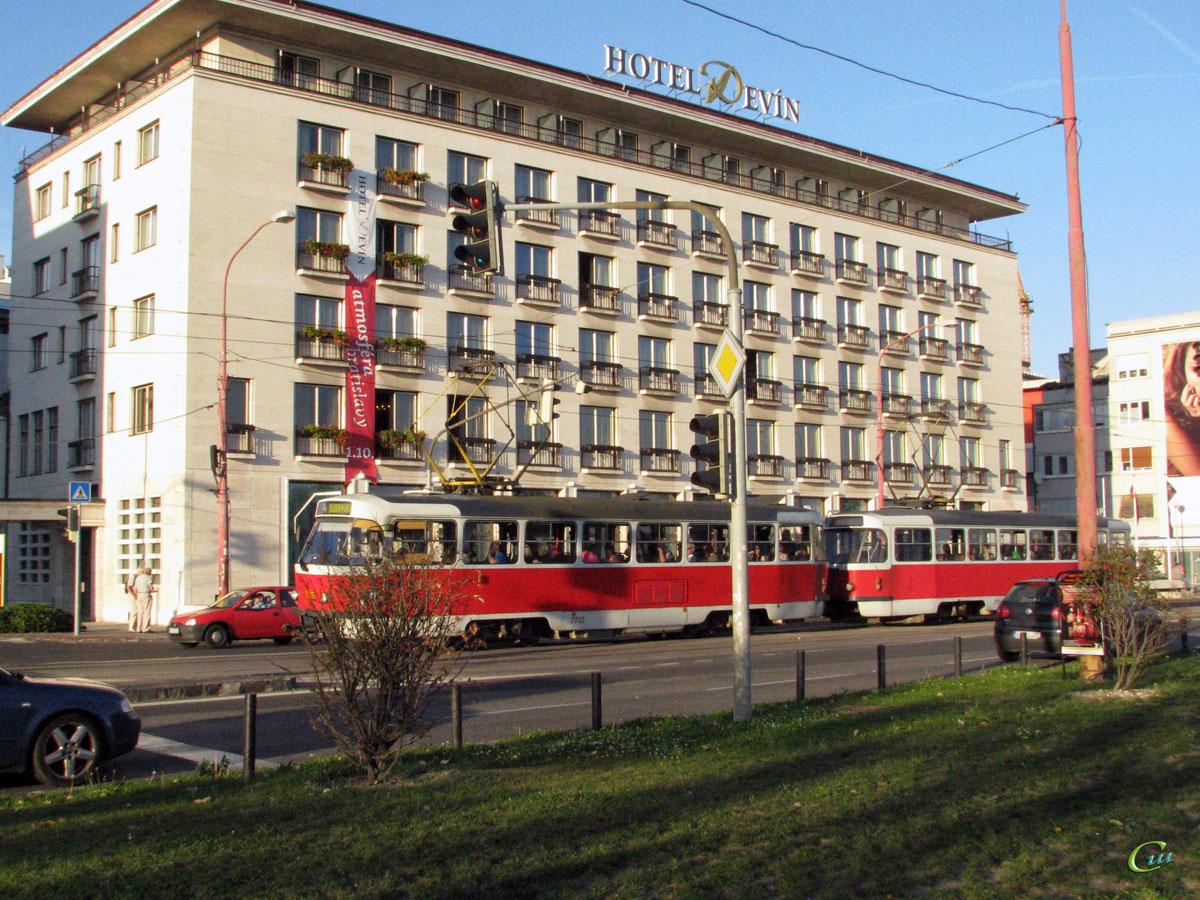 Братислава. Tatra T3P №7704, Tatra T3P №7715