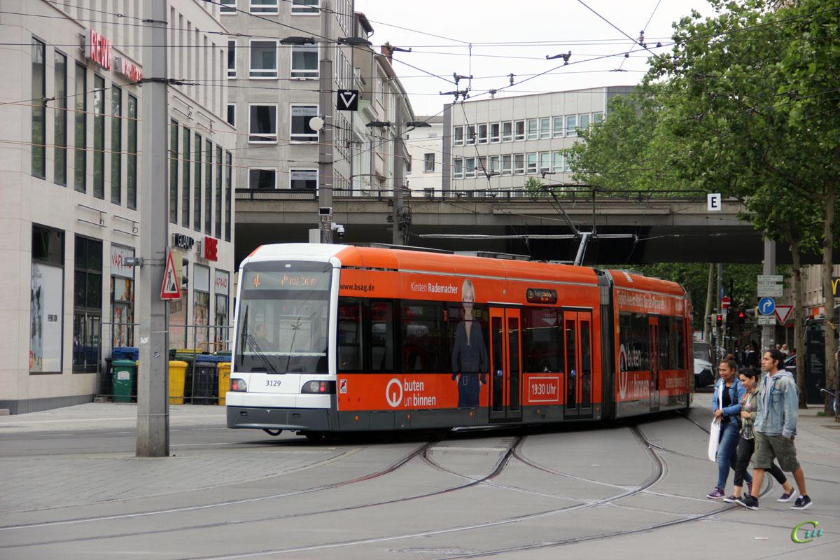 Бремен. Bombardier GT8N-1 №3129