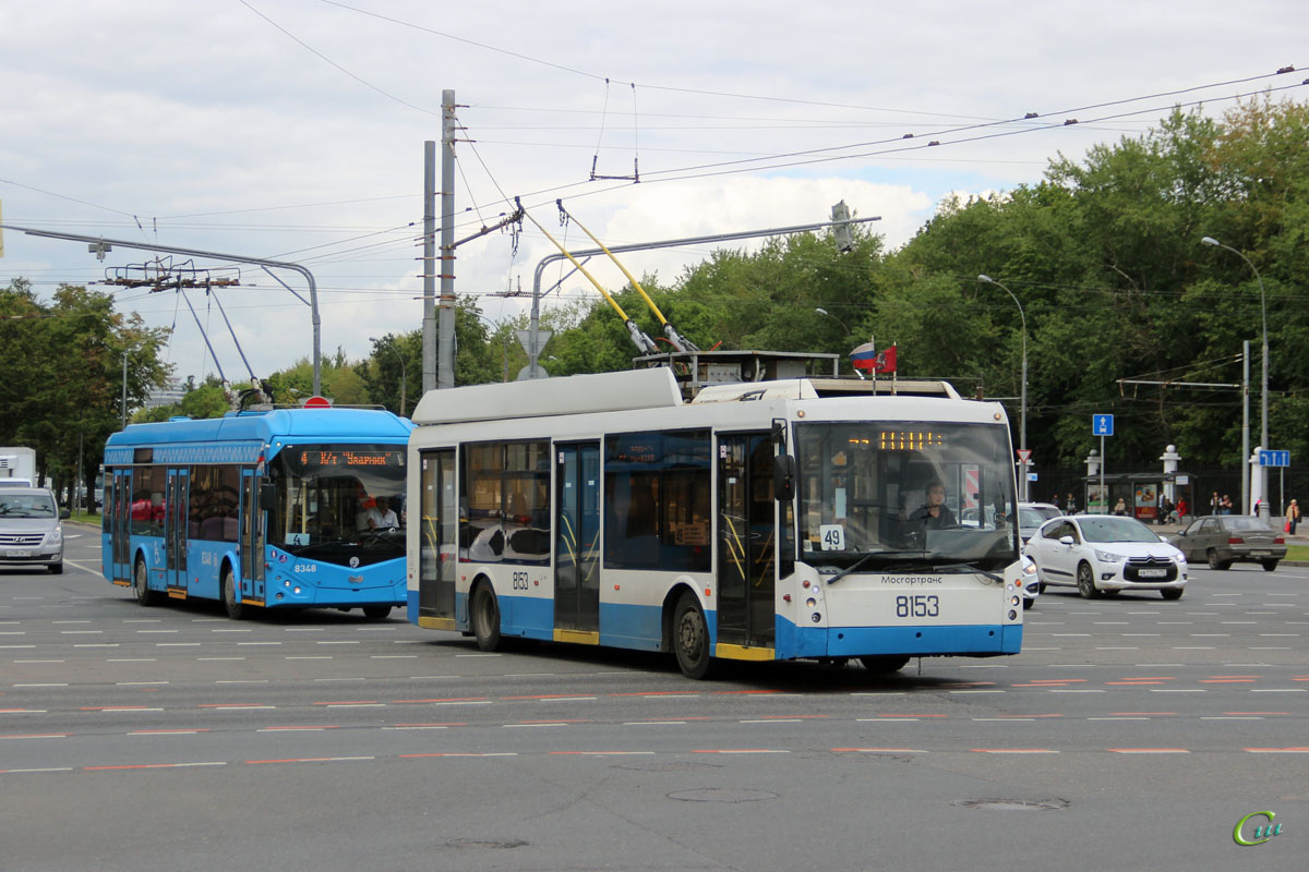 Москва. АКСМ-321 №8348, ТролЗа-5265.00 Мегаполис №8153