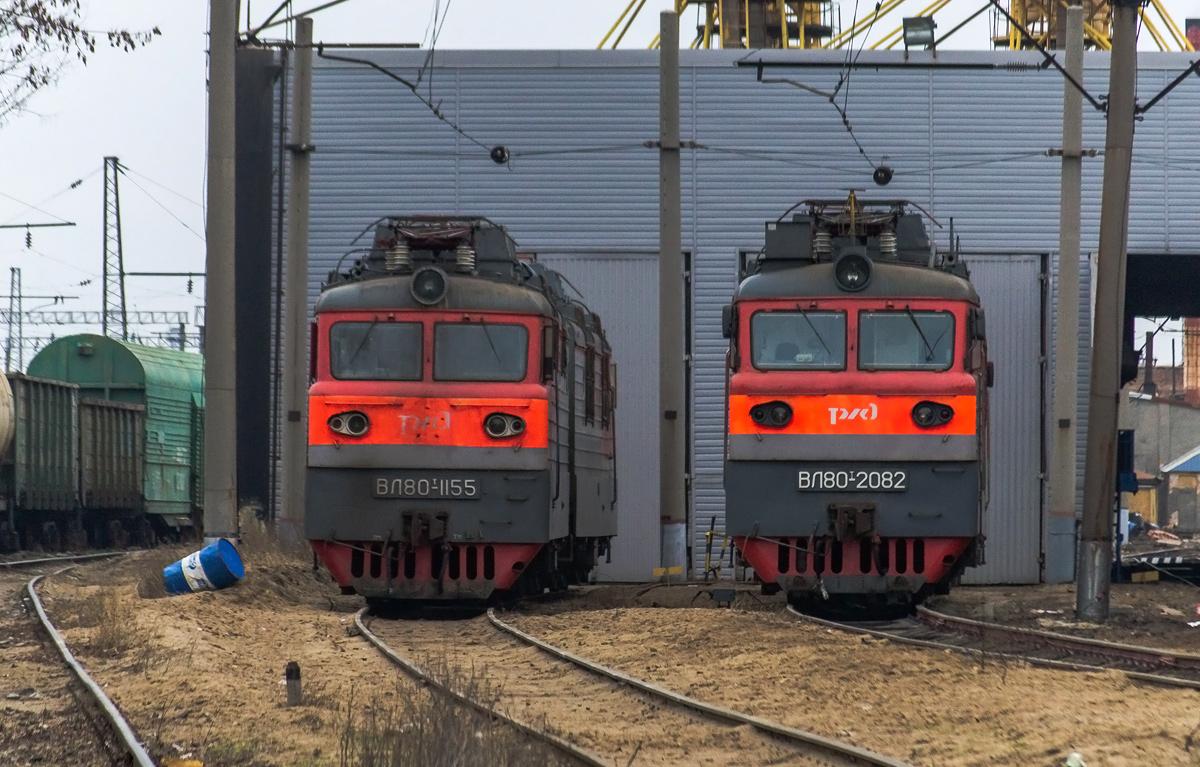 Батайск. ВЛ80т-2082, ВЛ80т-1155