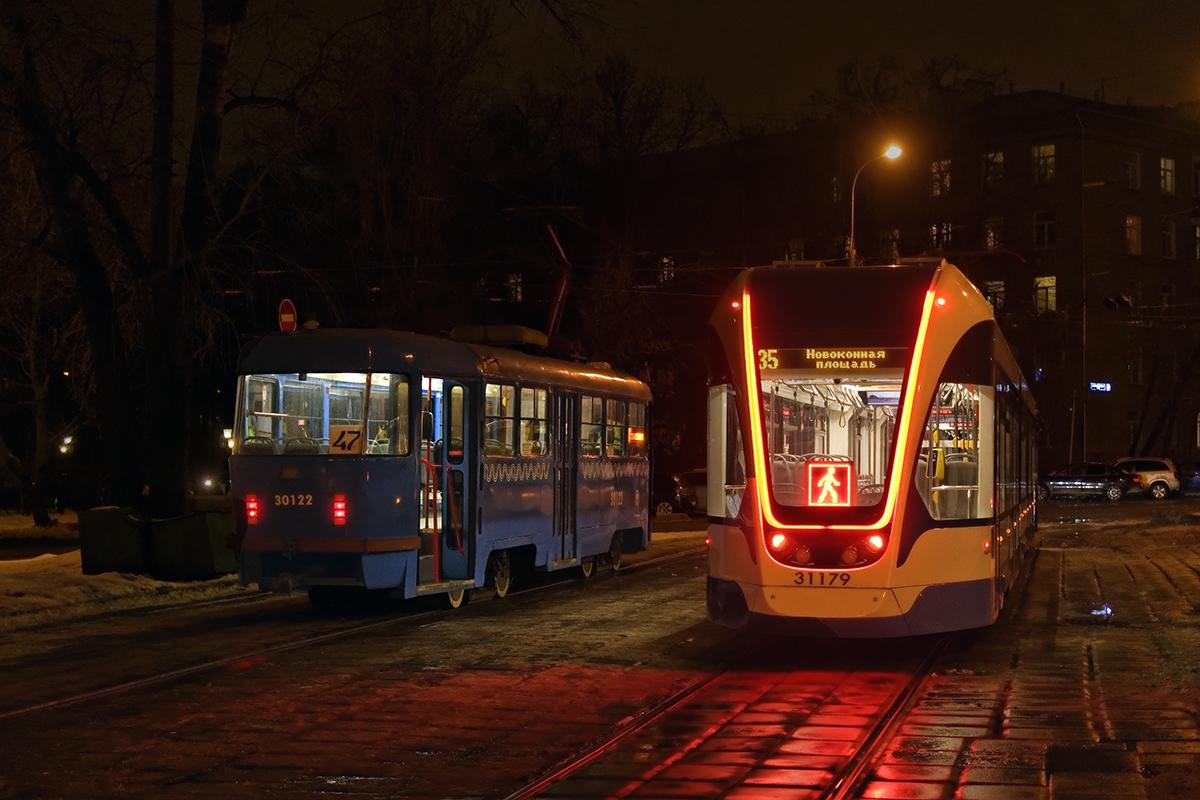 Москва. 71-931М Витязь-М №31179, Tatra T3 (МТТЕ) №30122