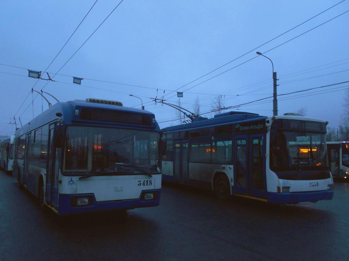 Санкт-Петербург. АКСМ-321 №3418, ВМЗ-5298.01 (ВМЗ-463) №2330