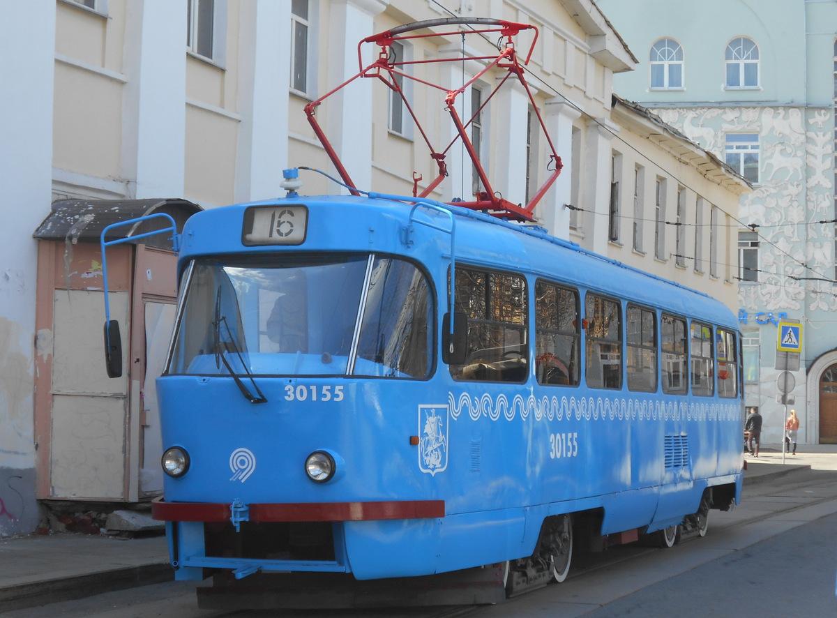 Москва. Tatra T3 (МТТЧ) №30155