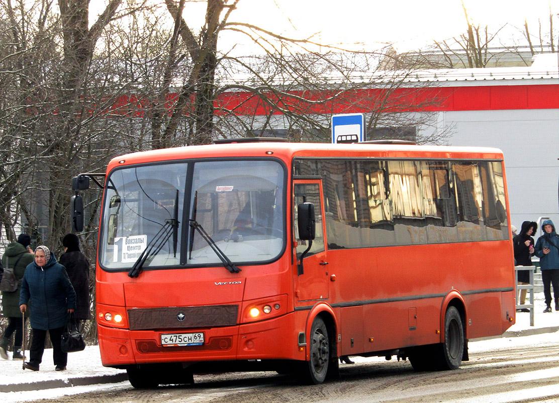Вышний Волочёк. ПАЗ-320414-04 Вектор с475сн