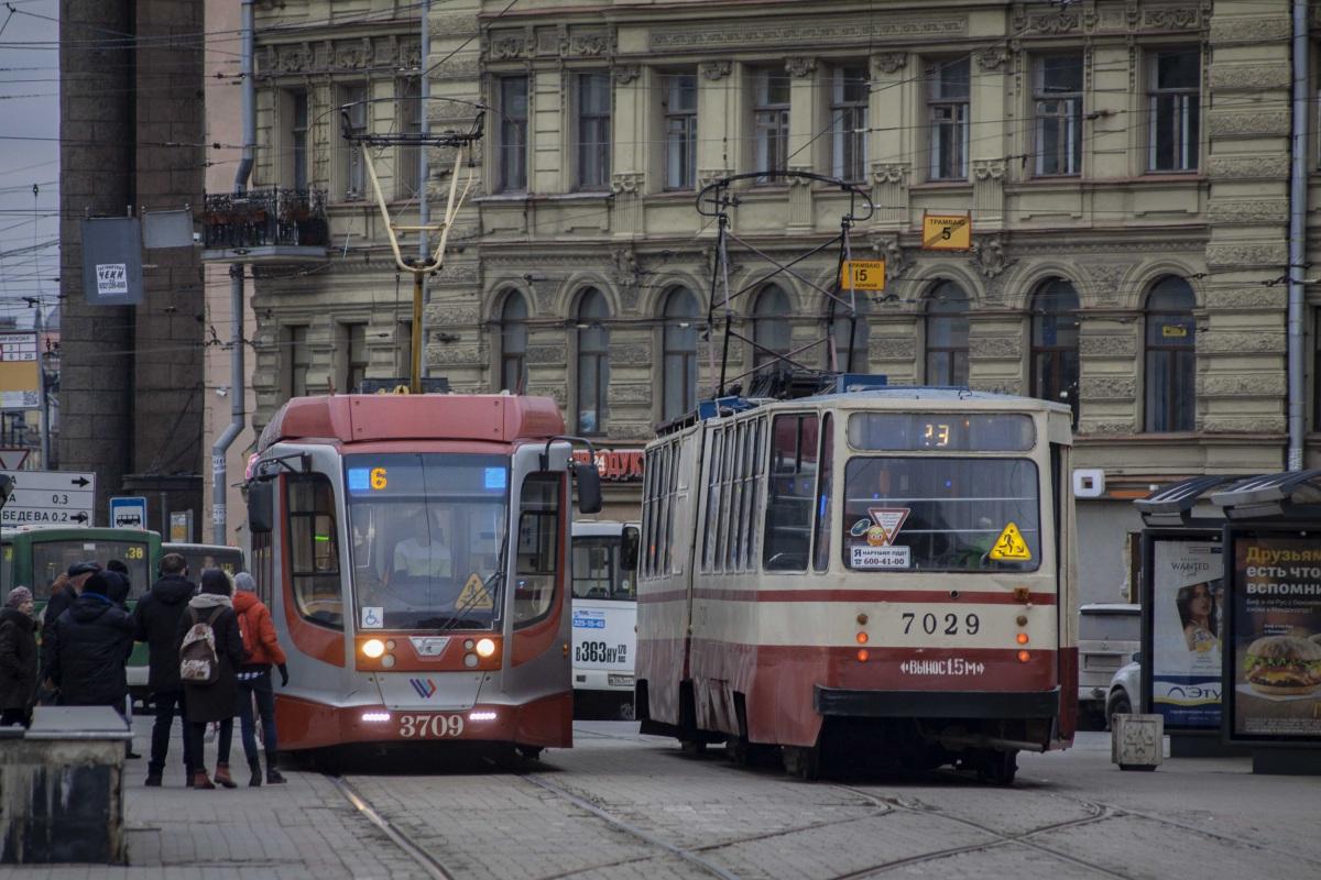 Санкт-Петербург. ЛВС-86К №7029, 71-623-03 (КТМ-23) №3709