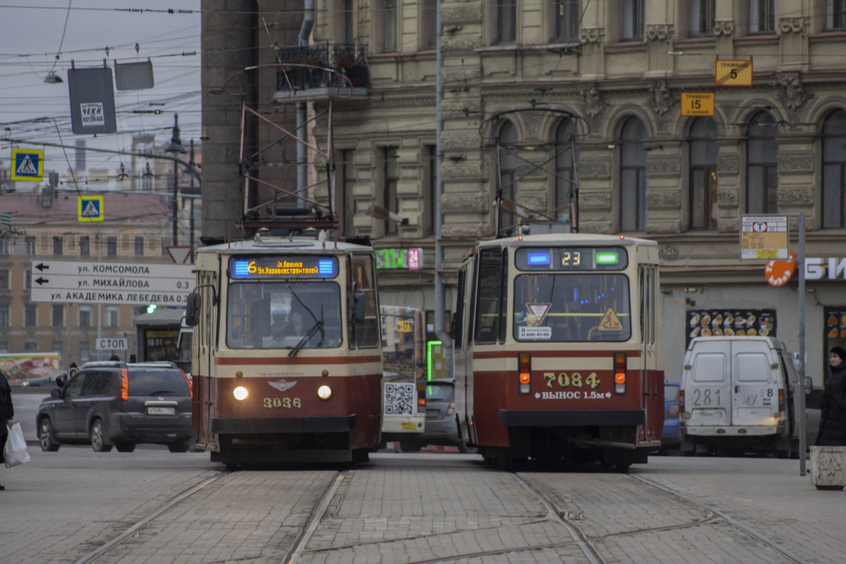 Санкт-Петербург. ЛВС-86К №3036, ЛВС-86К №7084