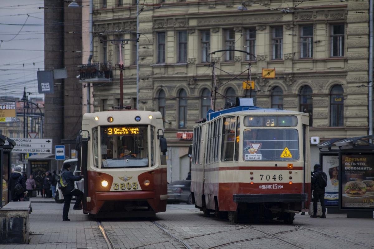 Санкт-Петербург. ЛВС-86К №7046, ЛМ-68М2 №3603